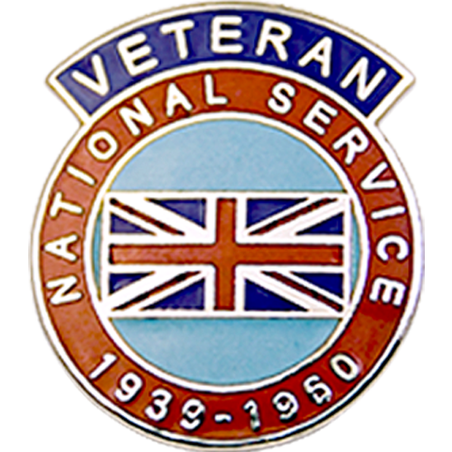 National Service Veterans Badge Enamelled