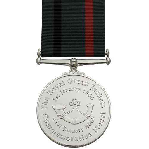 Royal Green Jackets Medal Commemorative Reverse
