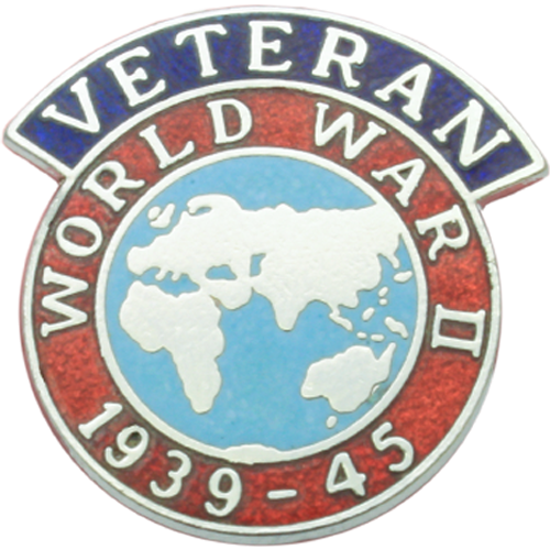 WW2 Veterans Badge Enamelled