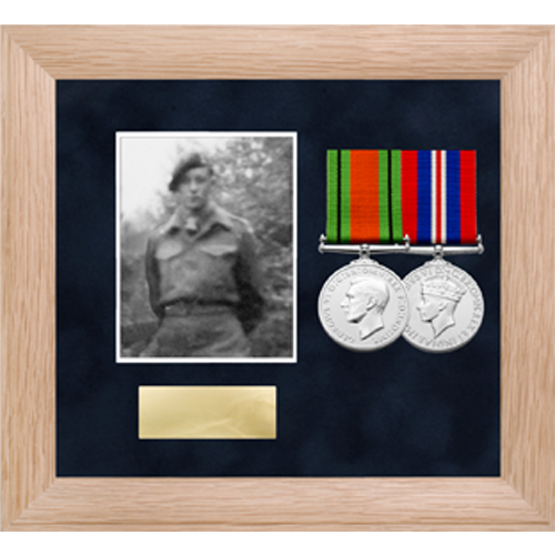 Photo Medal Display Frame for up to 2 Medals-2
