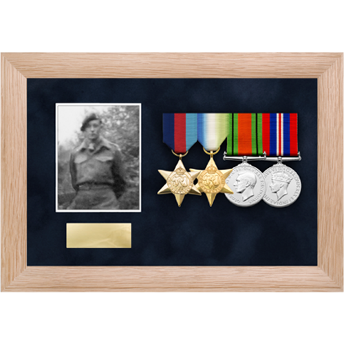 Photo Medal Display Frame for up to 4 Medals-4