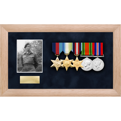 Photo Medal Display Frame for up to 6 Medals-5