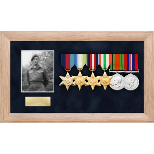 Photo Medal Display Frame for up to 6 Medals-6