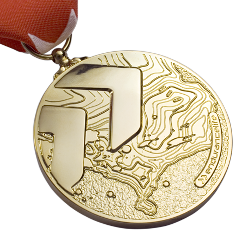 Endurance Life Gold Sports Medal Front