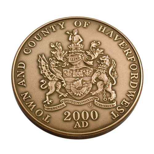 Haverford West Town Council Medal Front
