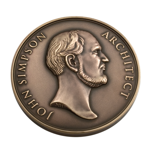 John Simpson Architect Medal Front