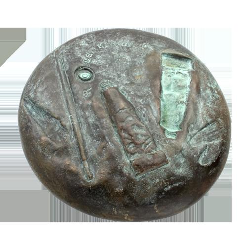 Lenkiewicz Weight Of Paint Art Medal Reverse