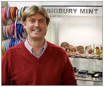 Matthew Holland, Managing Director of Bigbury mint