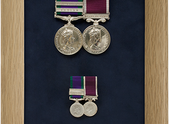 Military Medal Display Frame Case Study-S/Sgt