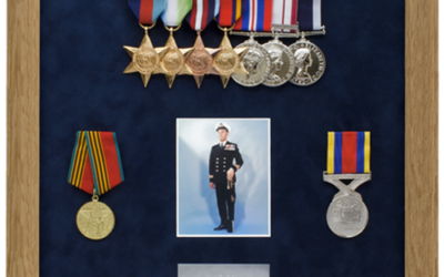 Military Medal Display Frame Case Study-Ryall
