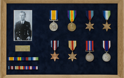 Military Medal Display Frame Case Study-Tuckwell Part 1
