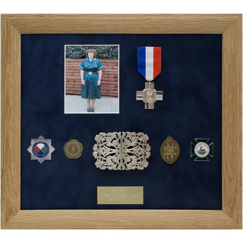 Nurse West bespoke medal frame