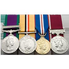 Medalla militar de montaje