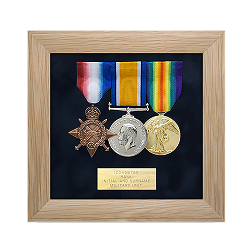 military medal display frame 3 space