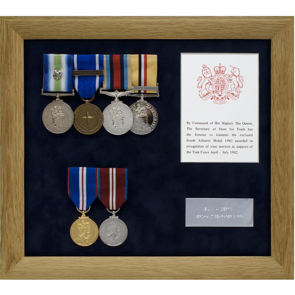 Anderton bespoke medal frame