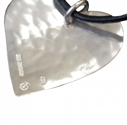 Silver Heart Pendant individually numbered on the back