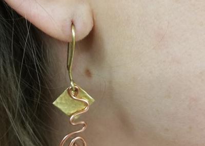earring worn