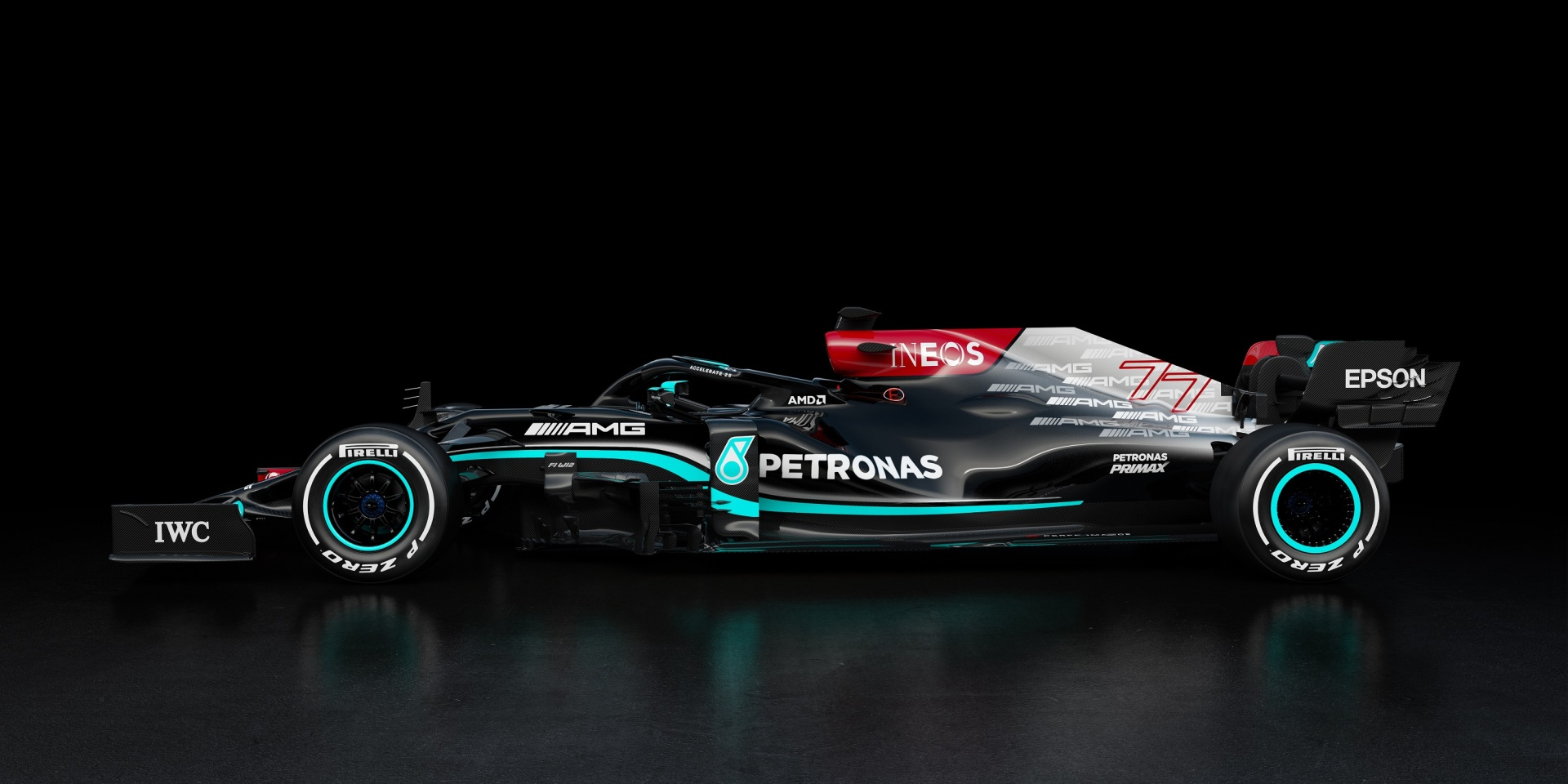 Mercedes reveals its 2021 livery W12 in defense of the 8th title.
