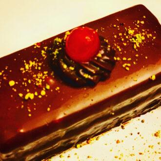 Chocolate Glazed Gateau $2.50 (#336)