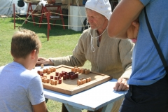 Being beaten by a young member of the public at Nine Mans Morris