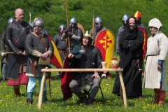 William the Conqueror summons his barons to his fortress at Old Sarum