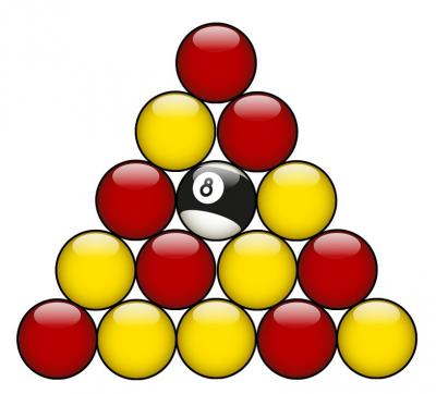 règle triangle billard pool