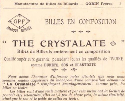 billes billard crystalate