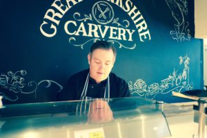 Chef Keith on post at the carvery unit