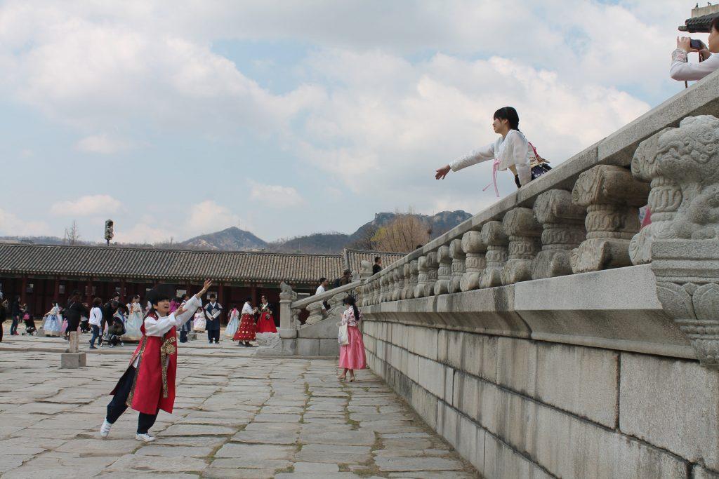 Templo Gyeongbokgung traje típico