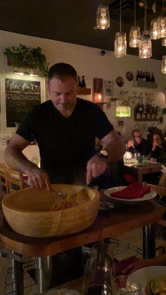 Preparing Pasta at the table