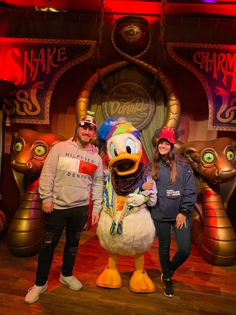 Con el Pato Donald