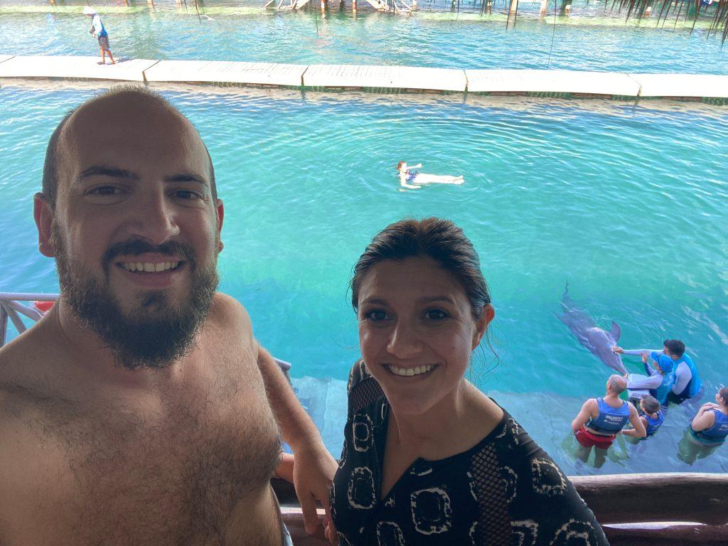 Nadando con delfines XCaret