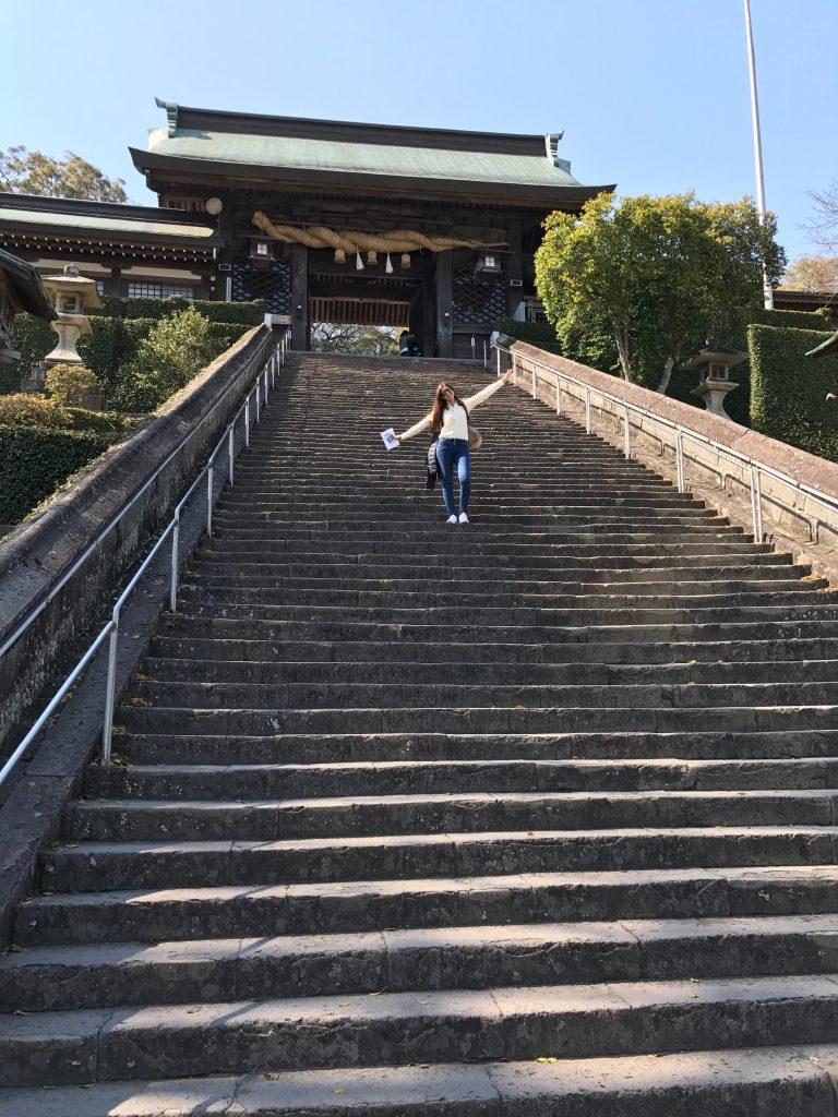 Escaleras Santuario Suwa