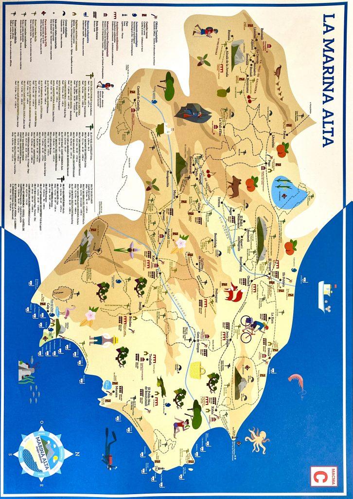 Mapa Turístico de la Marina Alta