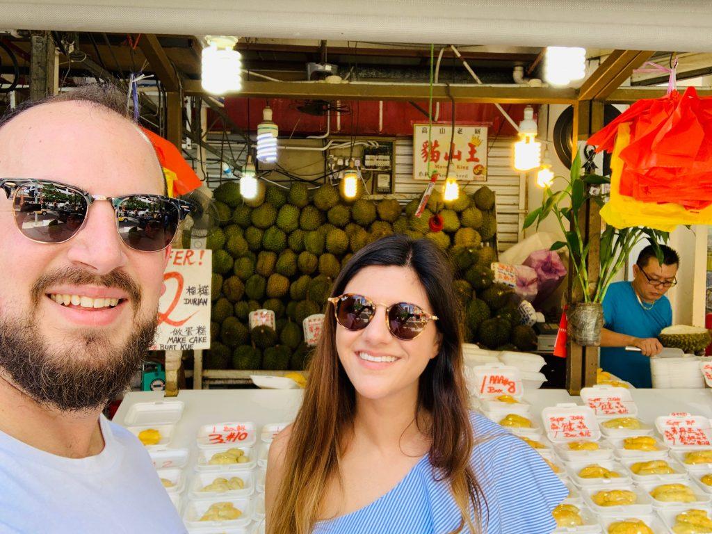 Puesto de durián