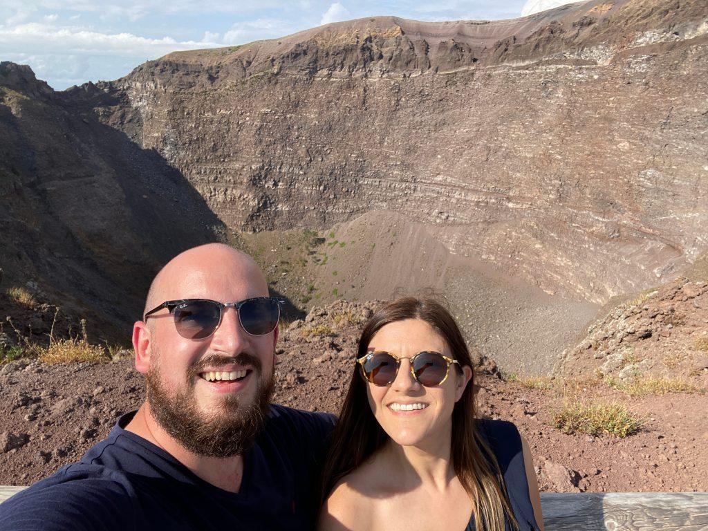 Agujero del volcán Vesubio