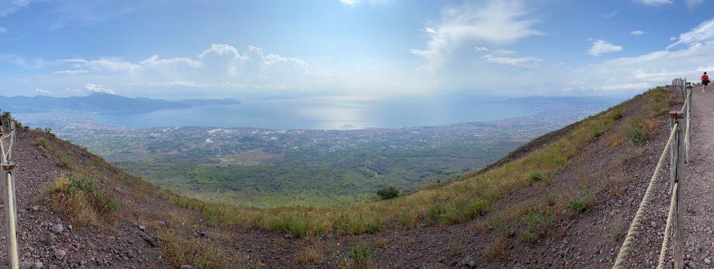 Vistas de las dos bahías desde el Vesubio