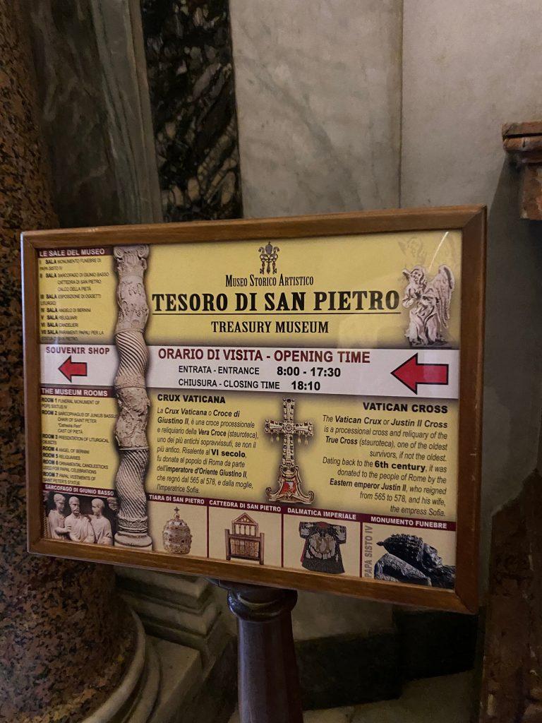 Entrada al Tesoro de San Pedro