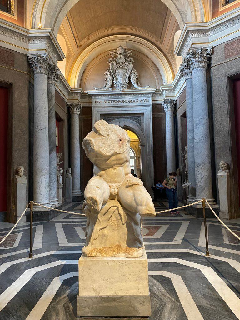 Escultura en el Museo del Vaticano