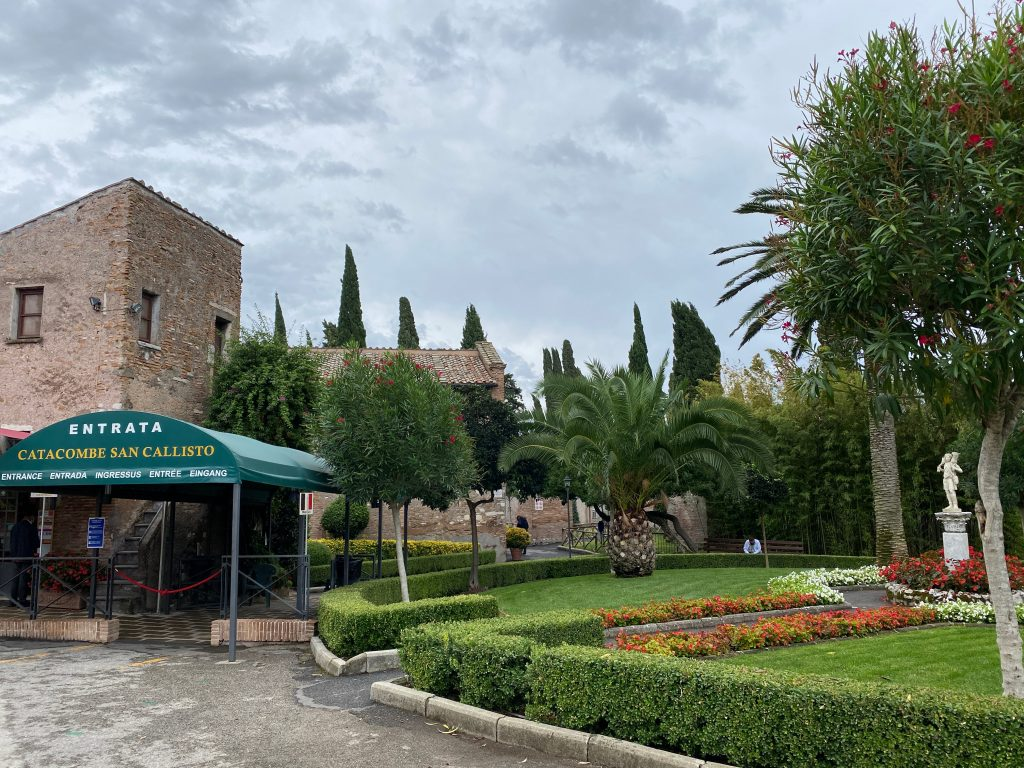 Entrada Catacumbas de San Calixto