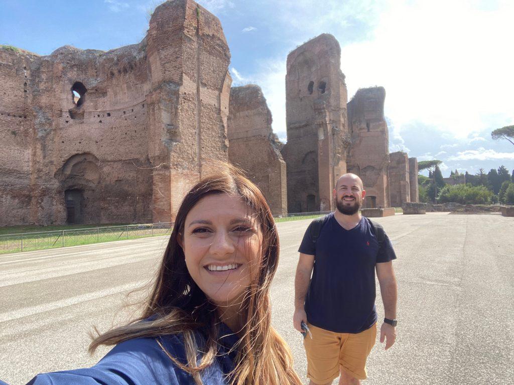 Termas de Caracalla desde el jardín