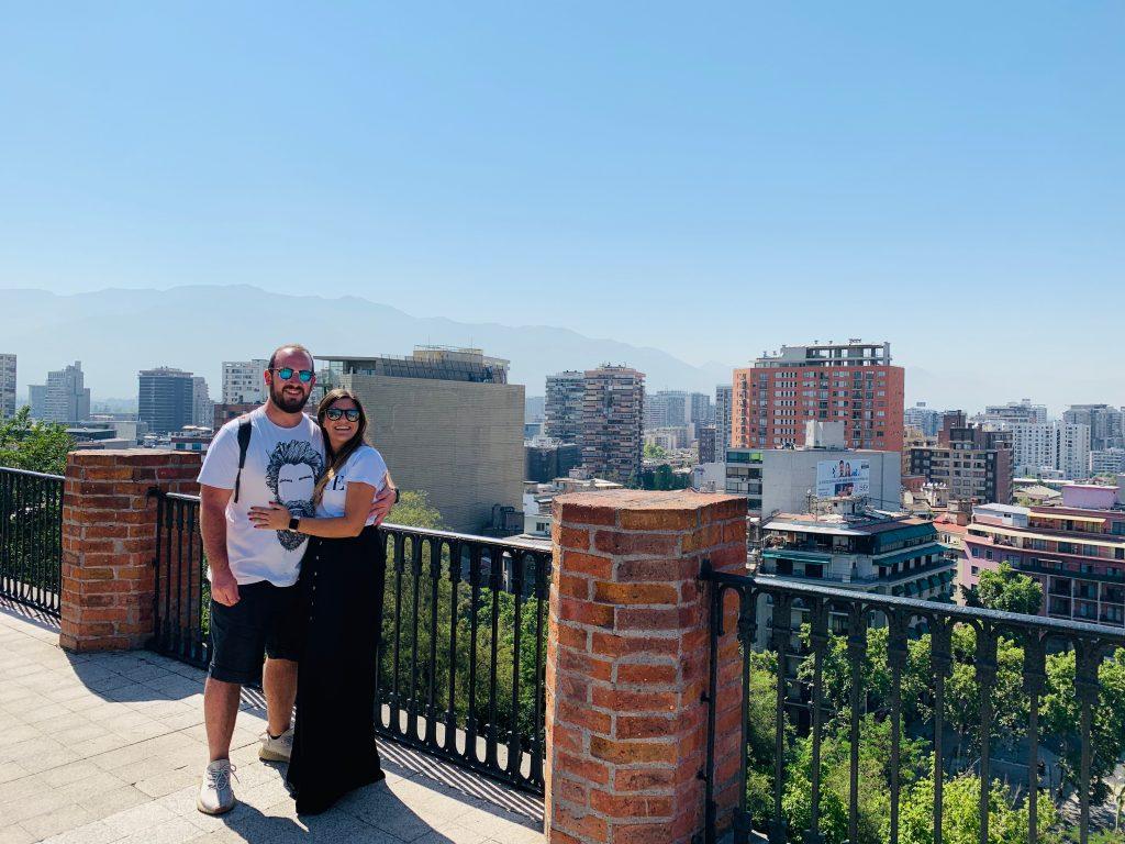 Vistas desde Cerro de Santa Lucía Chile