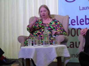 Hilary Mantel speaking at Launde 900