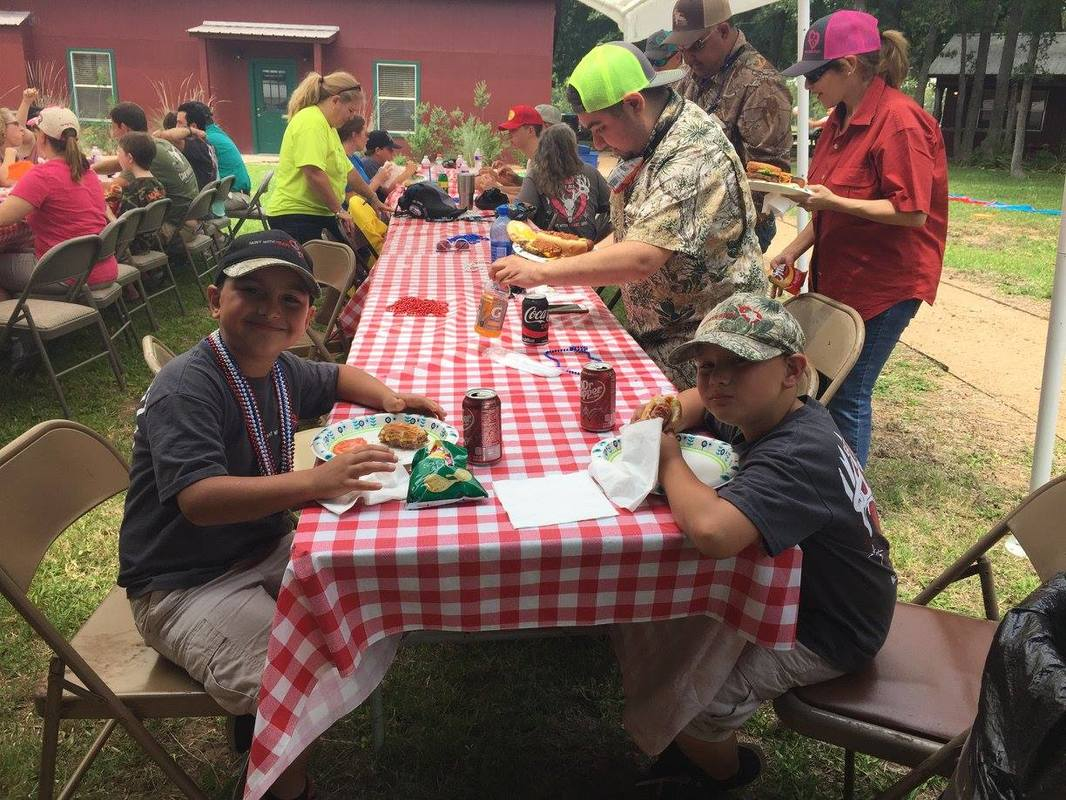 Kids having lunch