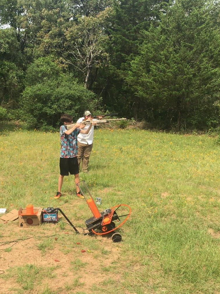 Shooting clay