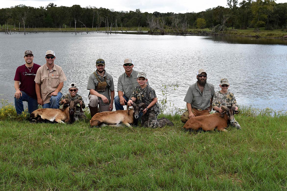 group photo of hunted animals
