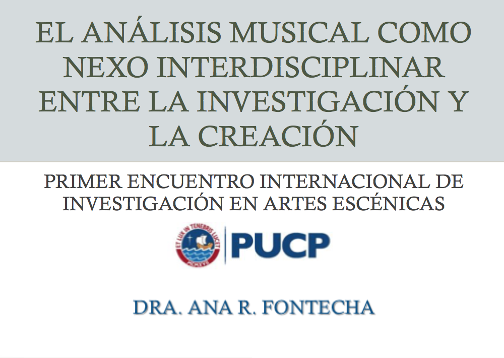 First International Conference of Research in Performing Arts