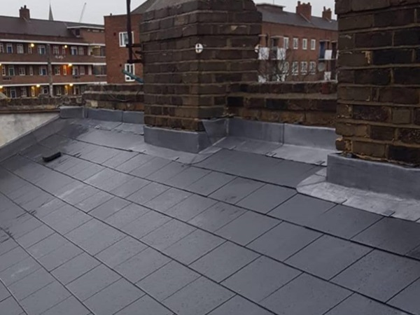 New slate roof by James Roofing