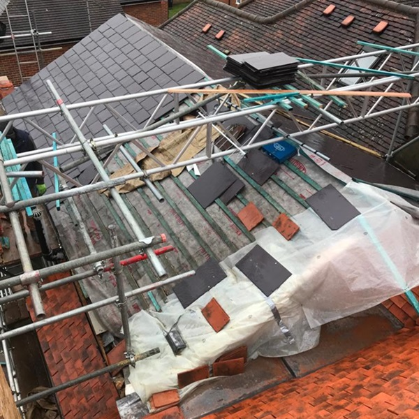 New roof with Clay Tiles