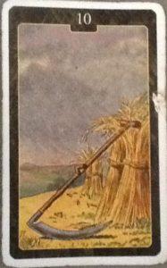 Scarabeo Lenormand Scythe Card